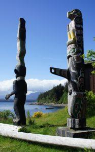 Totem Poles in Alert Bay, BC